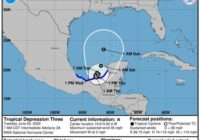 Tropical Storm Cristobal moving north across Gulf of Mexico, too soon to forecast path