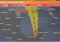 Tropical Storm Cristobal's US landfall expected in Louisiana