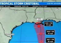 Cristobal Strengthens Into Tropical Storm As It Approaches US Gulf Coast