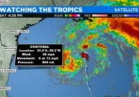 Tropical Storm Cristobal Progressing Toward US Gulf Coast