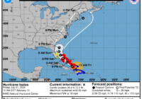 Hurricane Isaias weakens slightly, shifts westward on its track toward North Carolina