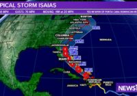 Tropical Storm Isaias' track shifts, expected to become huricane