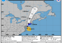 Tropical Storm Fay moving away from North Carolina