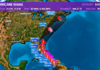 Isaias now a hurricane; Outer Banks and Hampton Roads near the center in the cone of uncertainty