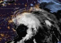 Tropical Storm Fay shutters beaches as it heads north