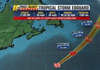 Tropical Storm Edouard forms in Atlantic Ocean, no impacts expected in U.S.