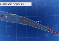 Hurricane Douglas forms in the Pacific, could strike Hawaii as a tropical system next week