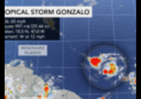 Tropical Storm Gonzalo develops, shattering yet another Atlantic record