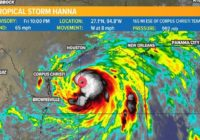Tropical Storm Hanna expected to become hurricane by today's landfall