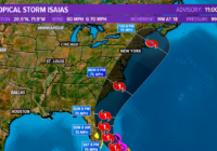 Tropical Storm Isaias likely to be a hurricane as it approaches Outer Banks, Hampton Roads
