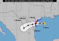 Hurricane Hanna makes landfall on Texas coast