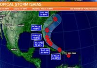 Tropical Storm Isaias gets stronger, could impact the East Coast