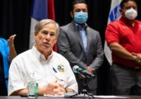 Texas Gov. Greg Abbott visits following Hurricane Hanna