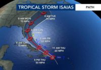 Tropical Storm Isaias update 11 p.m. July 30