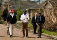 President Trump visits Texas to survey Hurricane Laura destruction