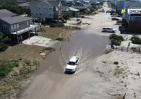 Cooper tours Oak Island, a town left without power or running water after Hurricane Isaias