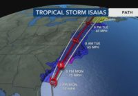 5 p.m. Isaias forecast update from WRAL Severe Weather Center
