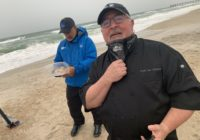 Bento Box gives Jim Cantore a snack break during Hurricane Isaias coverage