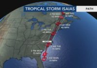Isaias expected to strengthen, make landfall near Myrtle Beach as a hurricane