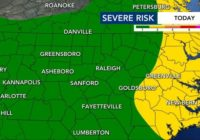 Severe weather threat diminishes, shifts to eastern counties
