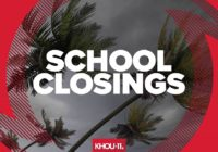 List: Wednesday school closings due to street flooding caused by Beta