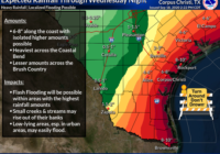 Tropical Storm Beta expected to drop up to 10 inches of rain in Corpus Christi area