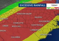 Rain begins to lessen in Triangle; Flash Flood watch in effect through Friday