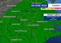 Strong to severe storms and isolated flooding likely Tuesday