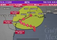 Hurricane, tropical storm and storm surge watches in effect for Texas coast ahead of Tropical Storm Beta