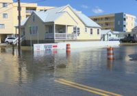 Flooding continues to be a problem along Canal Drive in Carolina Beach