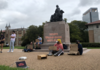 With Barely a Break For a Tropical Storm, Rice Students Continue to Protest Willy's Statue