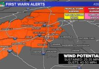 Tropical Storm Warning expanded into Charlotte ahead of Zeta