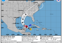 Tropical Storm Zeta expected to become Category 1 hurricane Monday