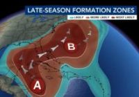 Tropical Storm Eta will likely form for the first time in history