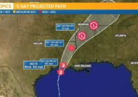Hurricane Delta makes landfall in Creole, Louisiana