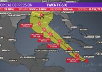 Eyes on the tropics: Tropical depression 26 into hurricane in the Gulf of Mexico
