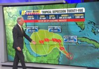 Tropical Depression 25 forms in the Caribbean, likely to become Tropical Storm Gamma