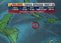 Tropical Depression 26 forms, likely to approach the Gulf of Mexico as a hurricane later this week