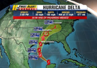 Hurricane Delta weakens to Cat. 1; expected to regain strength as it moves toward Louisiana coast