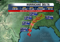 Hurricane Delta hours out from record breaking landfall in Louisiana