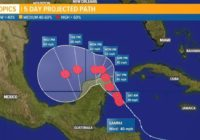 Tropical Depression 25 strengthens into Tropical Storm Gamma in western Caribbean