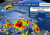 Tropical Storm Delta forms, expected to bring rain to North Carolina