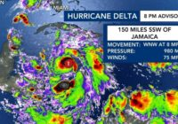 Delta strengthens to Cat. 2, expected to hit Gulf Coast as major hurricane