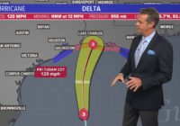 Houston Forecast: Gusty winds, light showers as Hurricane Delta makes landfall well to our east