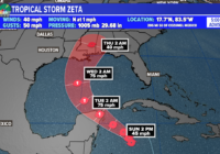 Tropical Storm Zeta setting records this week