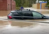 Woman crawls out of car window to escape flooding in west Charlotte