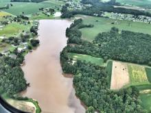 Neuse River from the air