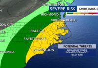 Strong to severe storms and tornadoes possible Christmas Eve
