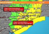 Houston weather: Flash Flood Watch, Tornado Watch as cold front sweeps through | View live radar