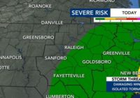 Triangle eastward under Level 1 risk for severe weather tonight